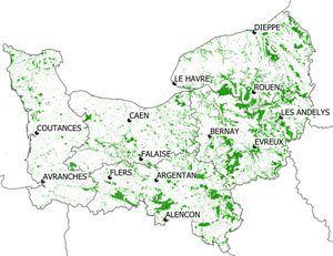Carte des forêts normandes - URCOFOR